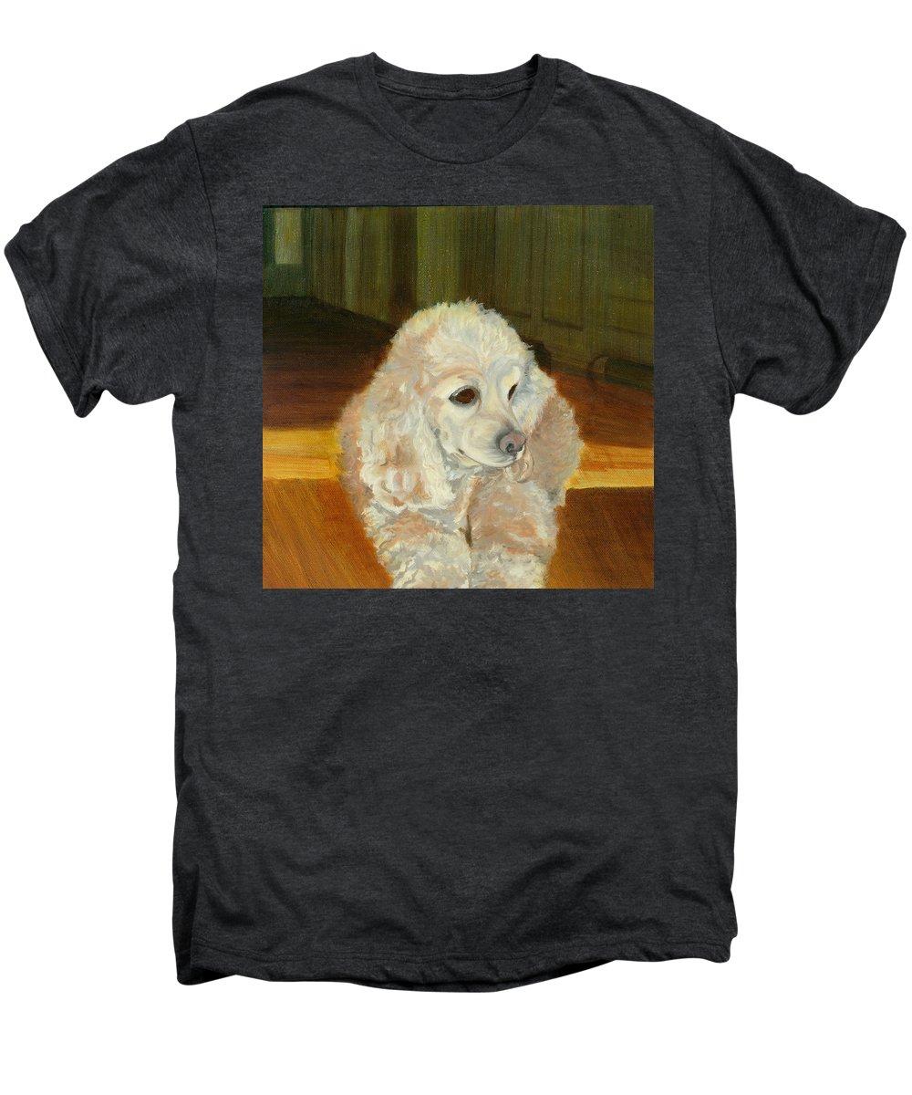 Animal Men's Premium T-Shirt featuring the painting Remembering Morgan by Paula Emery