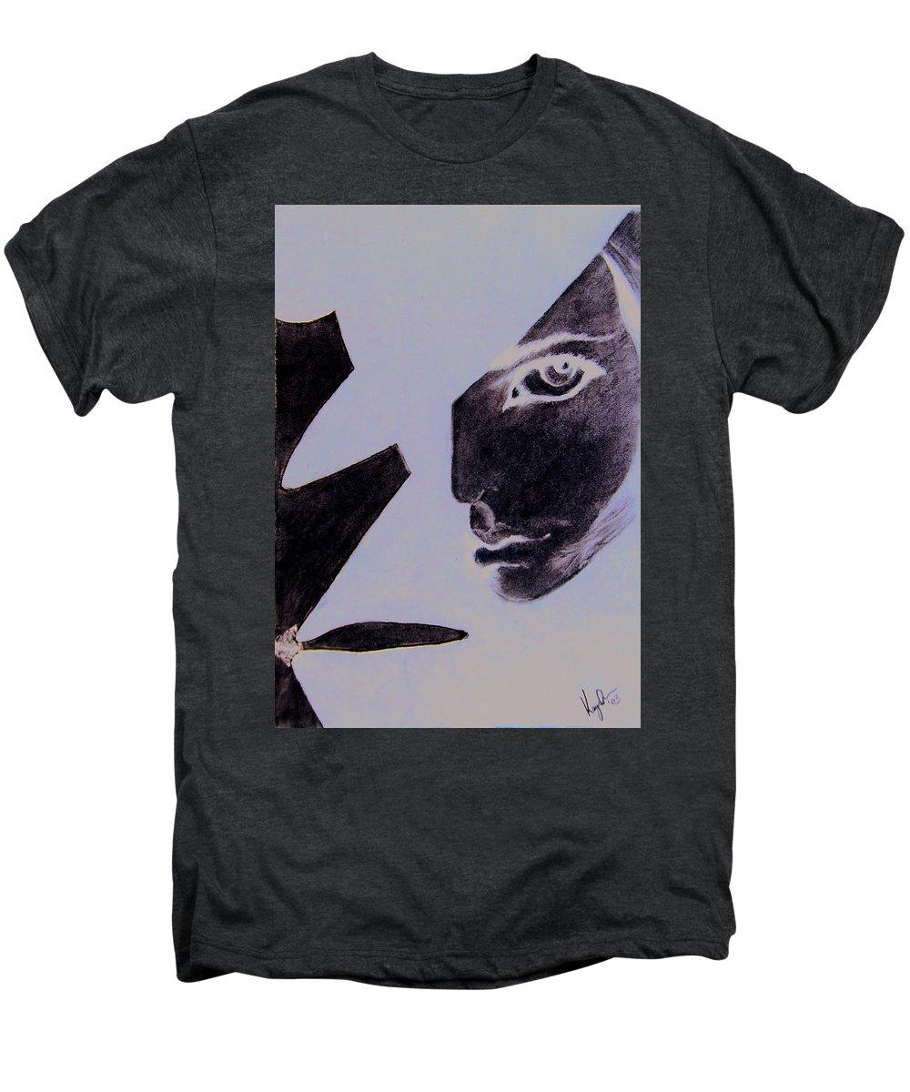 Black Men's Premium T-Shirt featuring the pastel Revenge by Kayon Cox