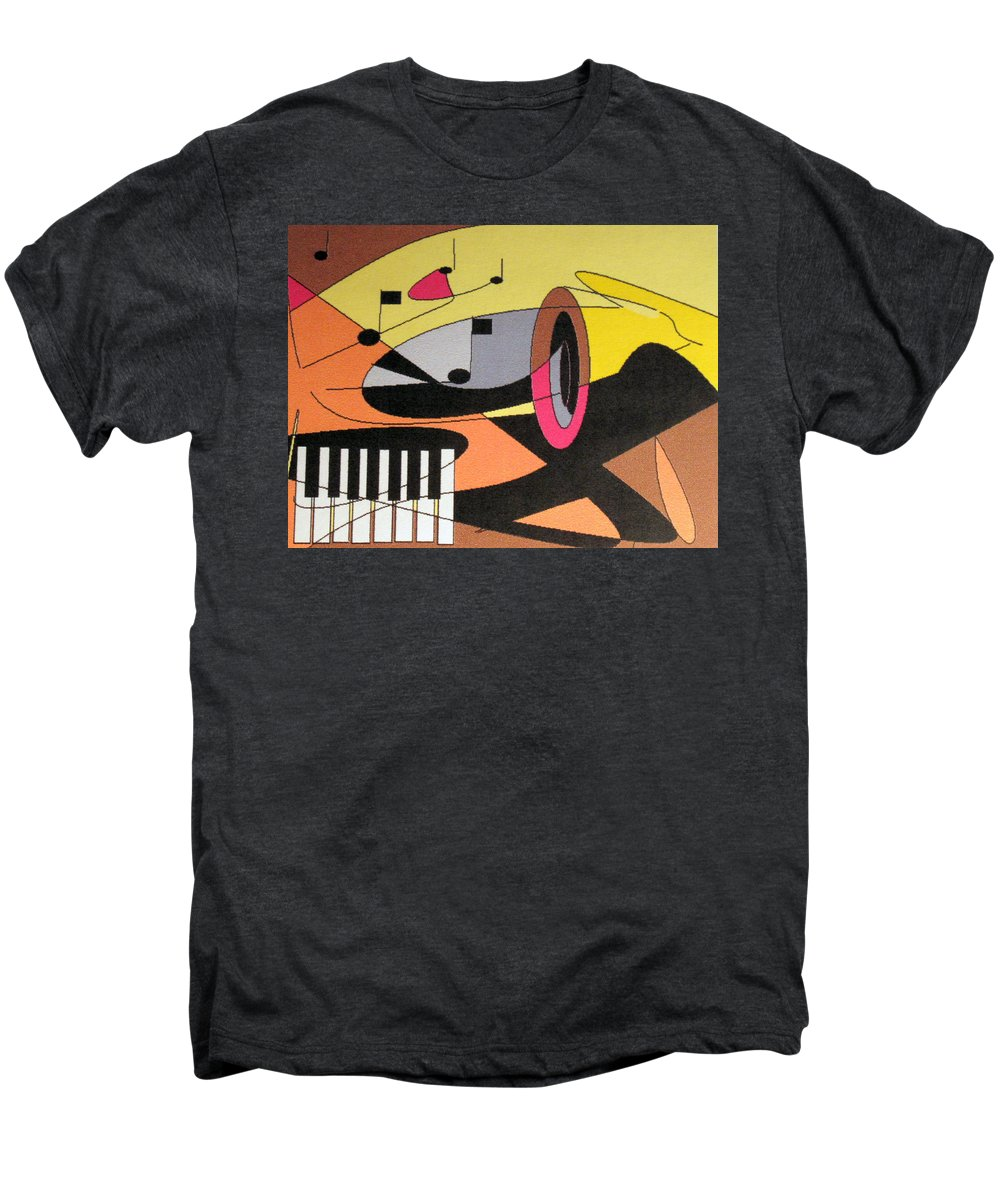 Music Men's Premium T-Shirt featuring the digital art Rhapsody by Ian MacDonald
