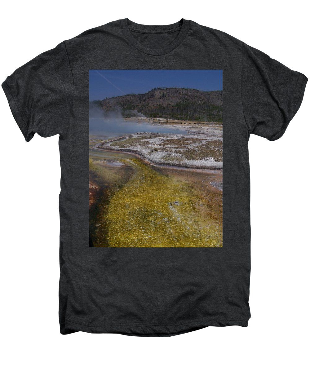Geyser Men's Premium T-Shirt featuring the photograph River Of Gold by Gale Cochran-Smith