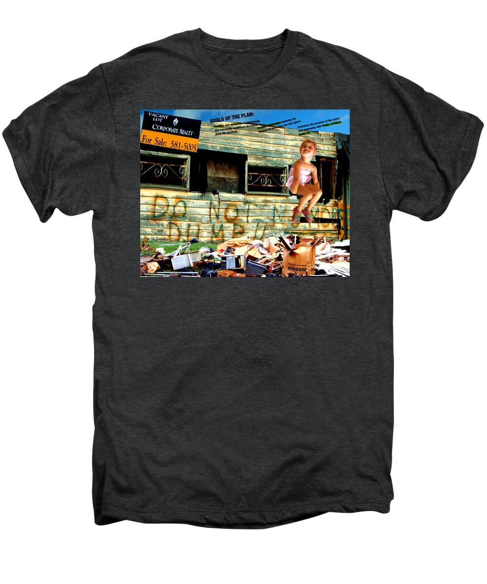 Riverfront Development Men's Premium T-Shirt featuring the photograph Riverfront Visions by Ze DaLuz
