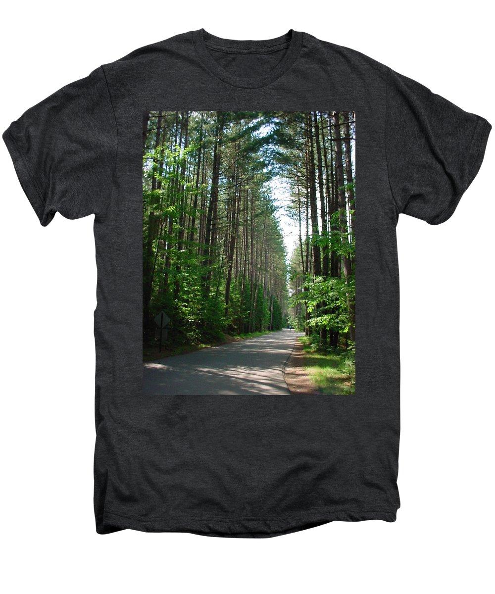 Fish Creek Men's Premium T-Shirt featuring the photograph Roadway At Fish Creek by Jerrold Carton