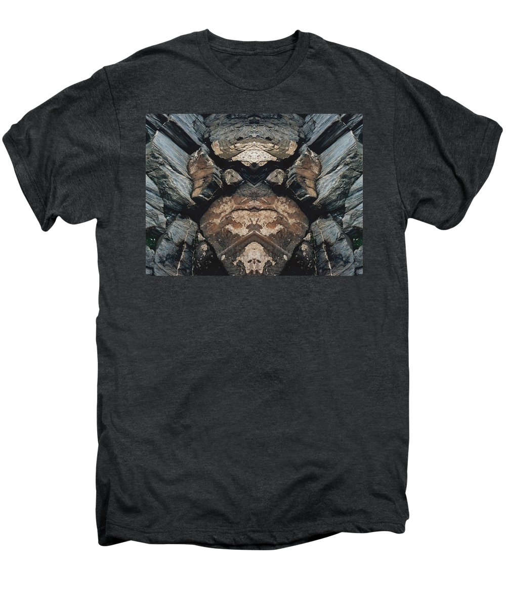 Rocks Men's Premium T-Shirt featuring the photograph Rock Gods Rock Matron by Nancy Griswold