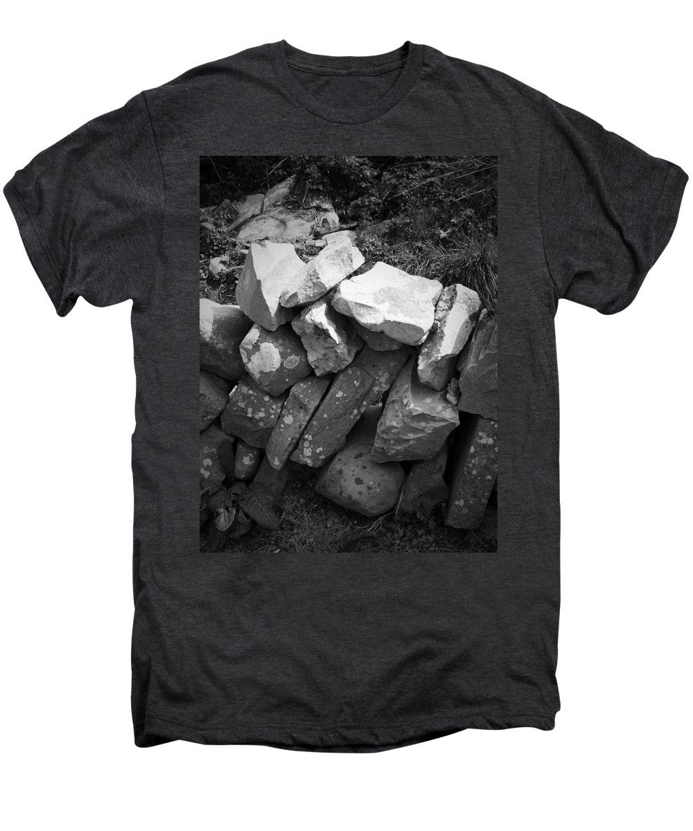 Irish Men's Premium T-Shirt featuring the photograph Rock Wall Doolin Ireland by Teresa Mucha