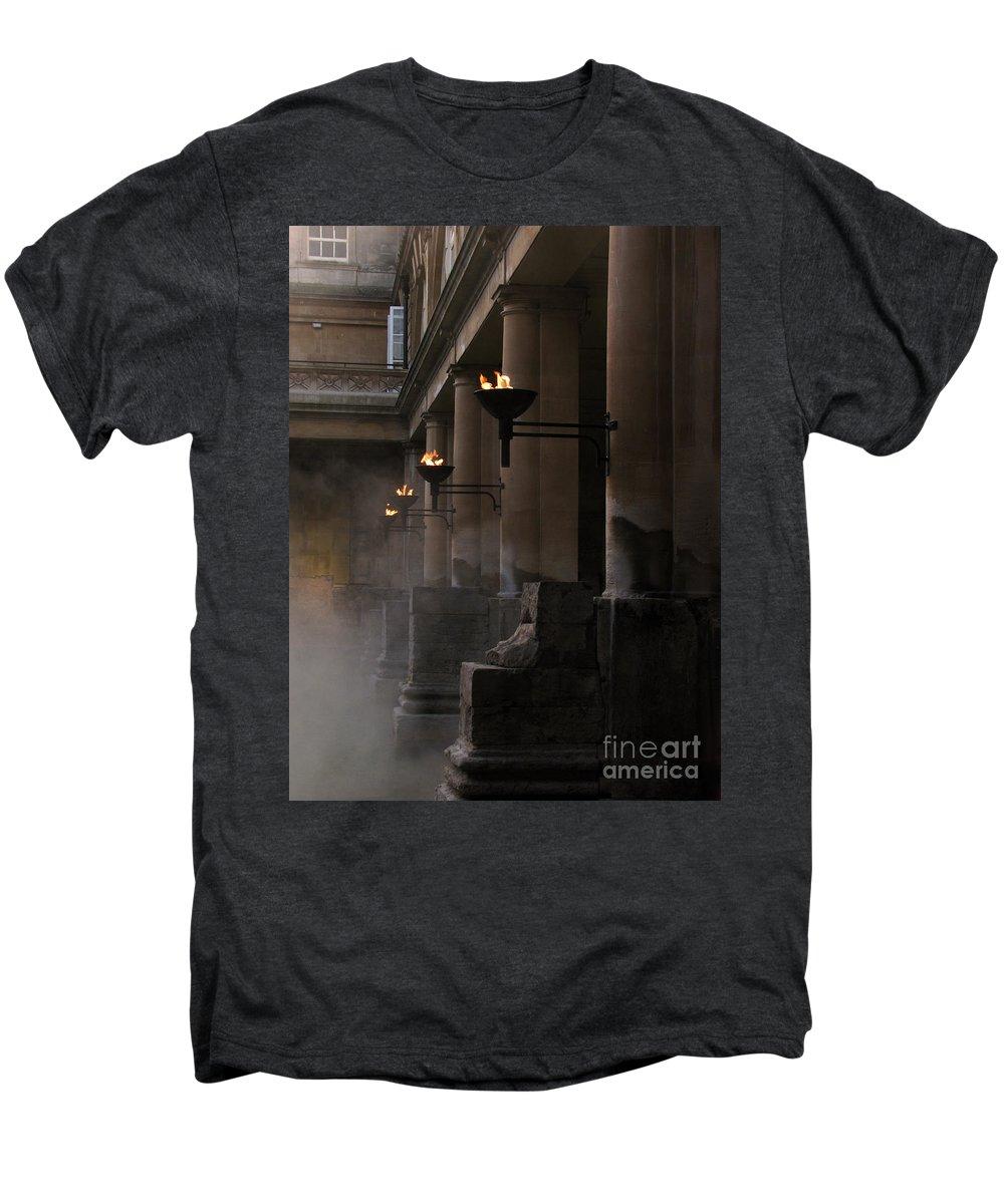 Bath Men's Premium T-Shirt featuring the photograph Roman Baths by Amanda Barcon