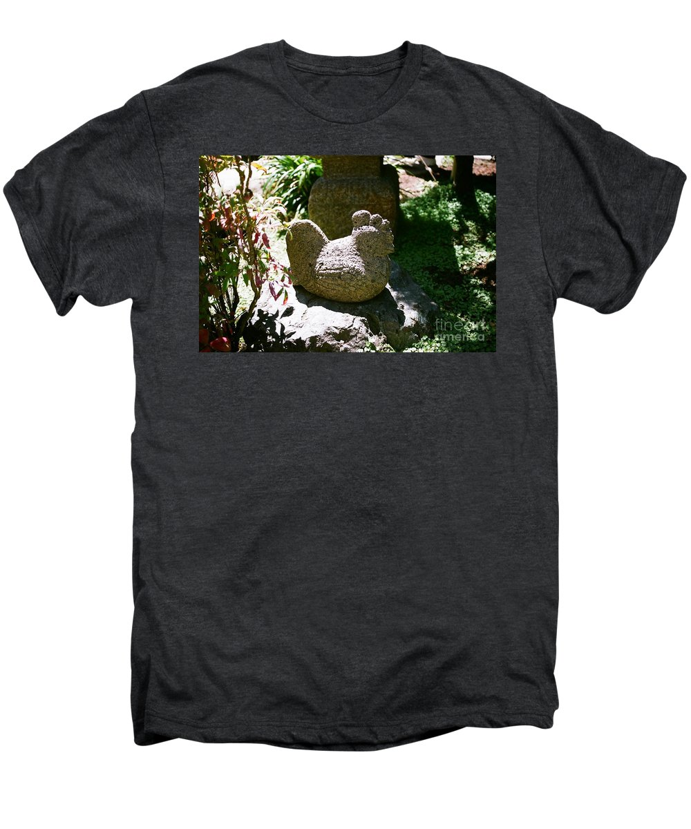 Stone Men's Premium T-Shirt featuring the photograph Rooster by Dean Triolo