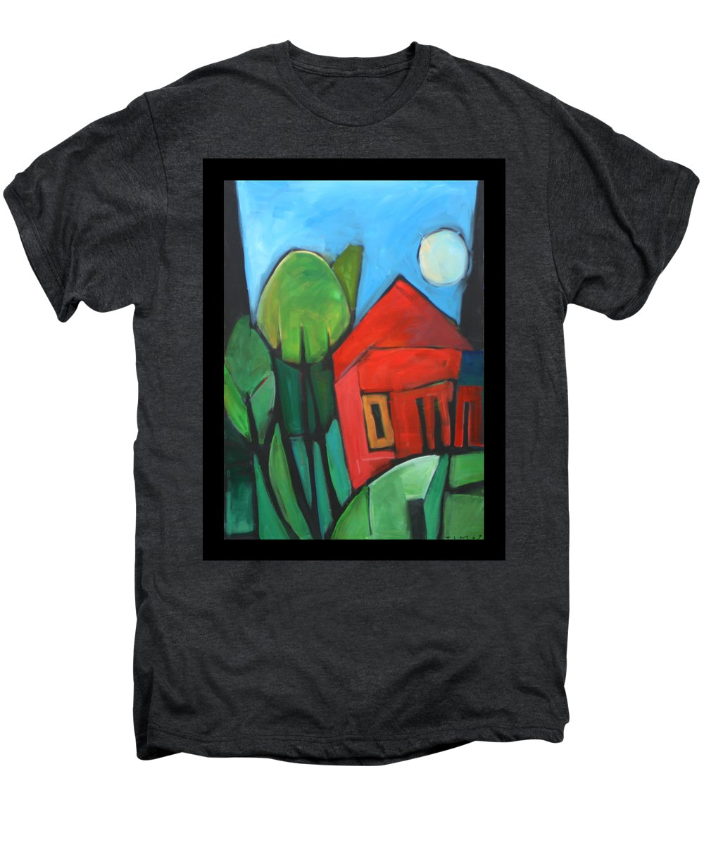 Trees Men's Premium T-Shirt featuring the painting Root Cellar by Tim Nyberg
