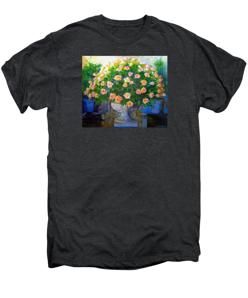 Rose Men's Premium T-Shirt featuring the painting Roses At Table Bay by Michael Durst