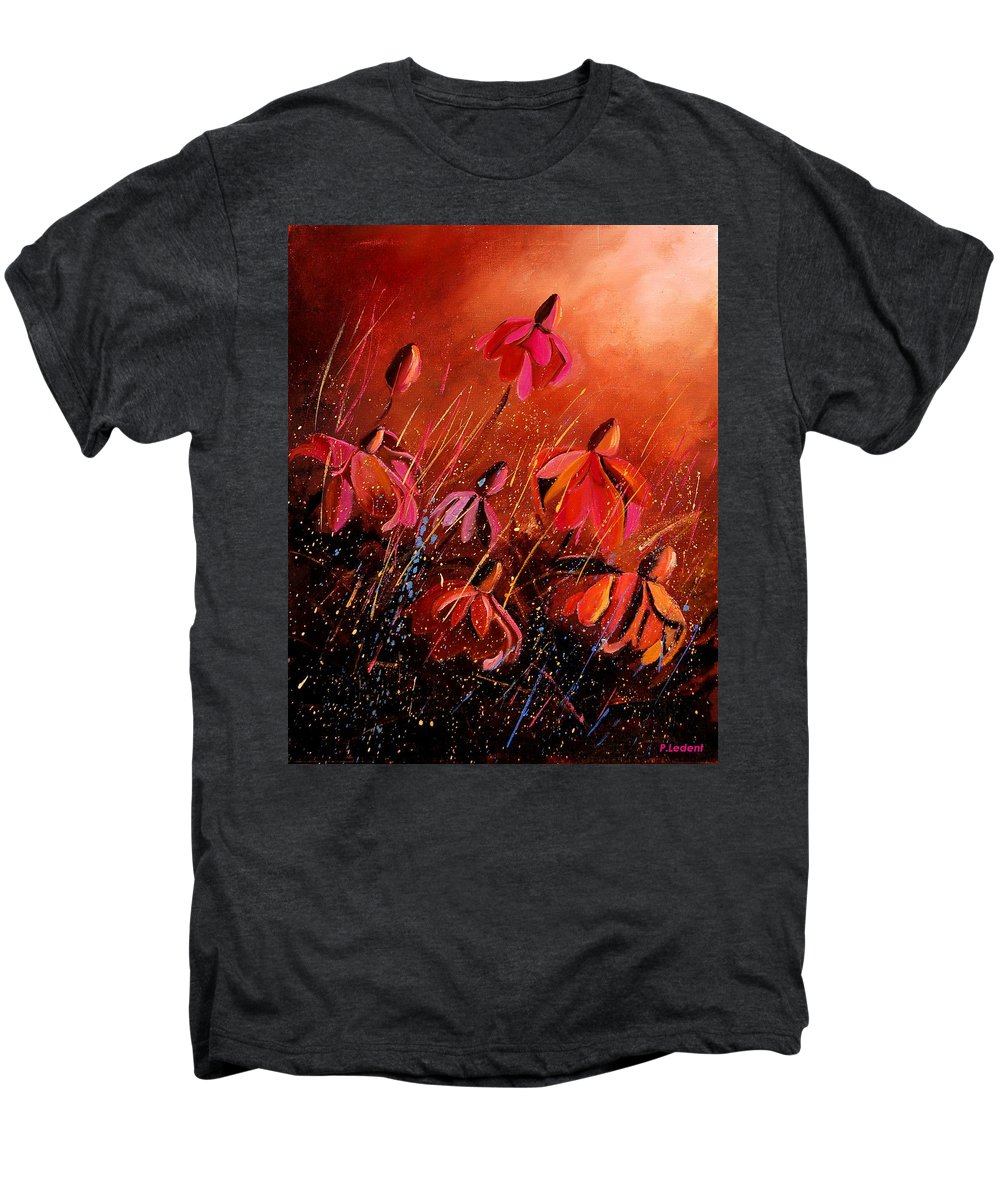 Poppies Men's Premium T-Shirt featuring the painting Rudbeckia's 45 by Pol Ledent