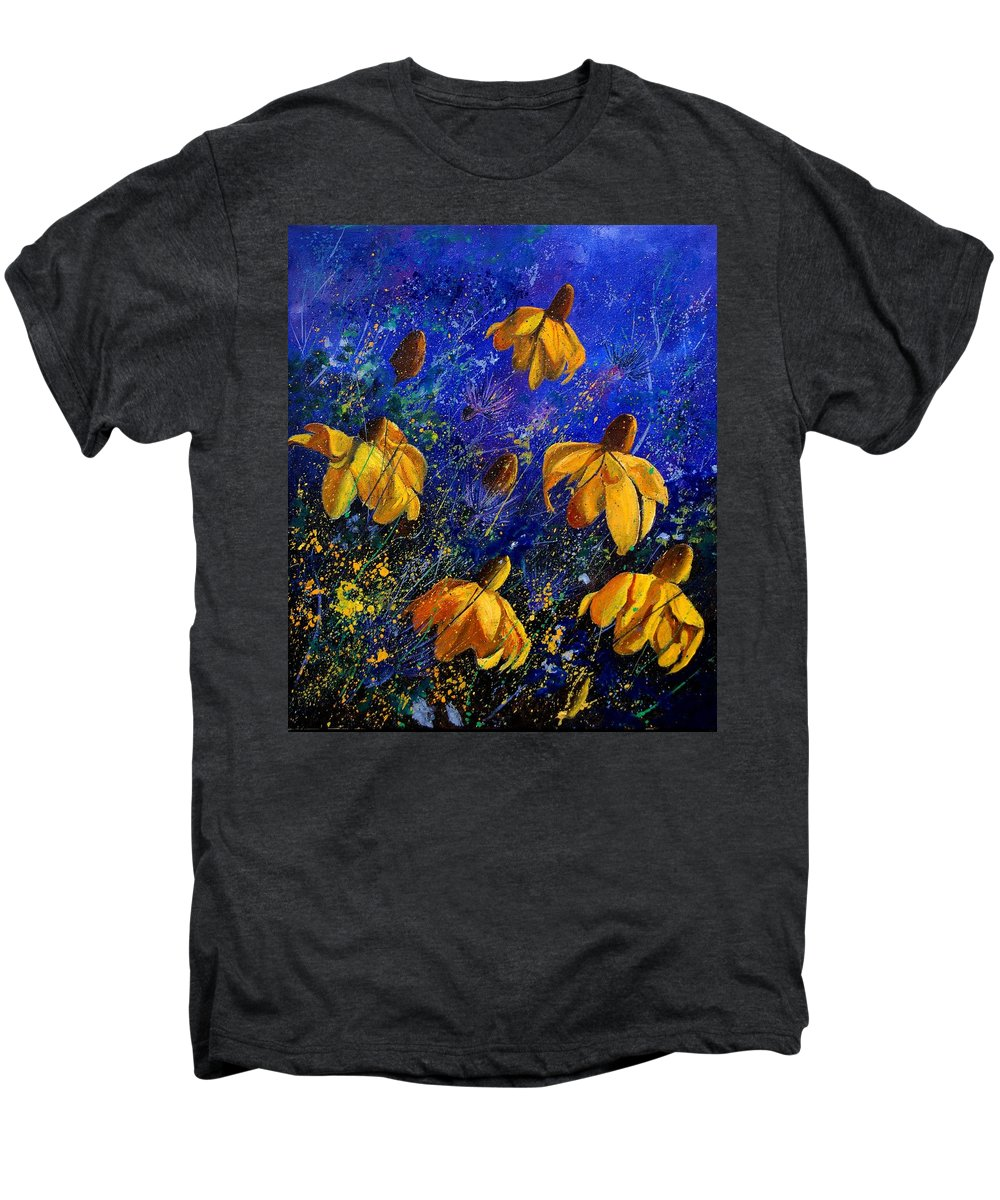 Poppies Men's Premium T-Shirt featuring the painting Rudbeckia's by Pol Ledent