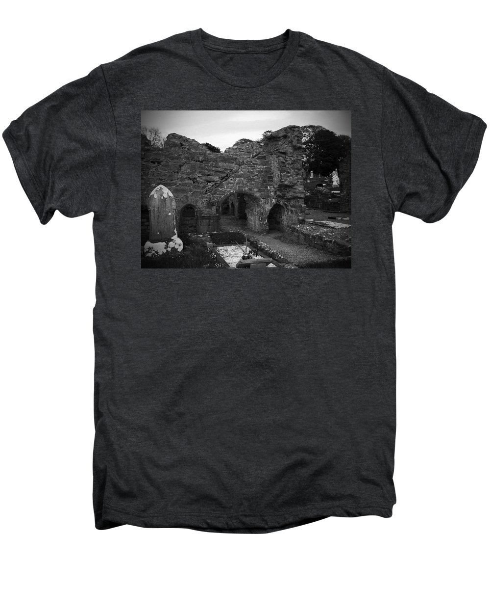 Irish Men's Premium T-Shirt featuring the photograph Ruins At Donegal Abbey Donegal Ireland by Teresa Mucha