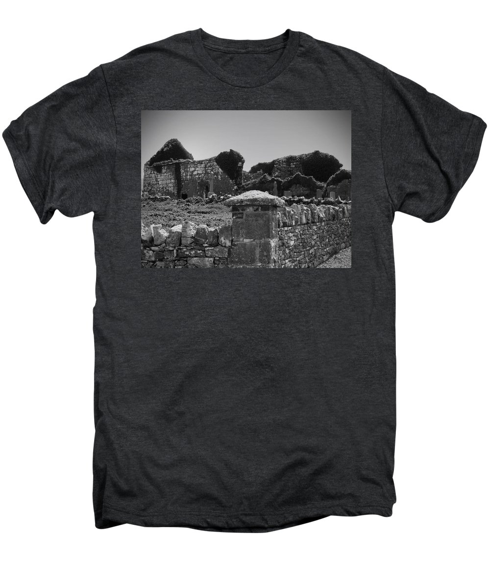 Irish Men's Premium T-Shirt featuring the photograph Ruins In The Burren County Clare Ireland by Teresa Mucha
