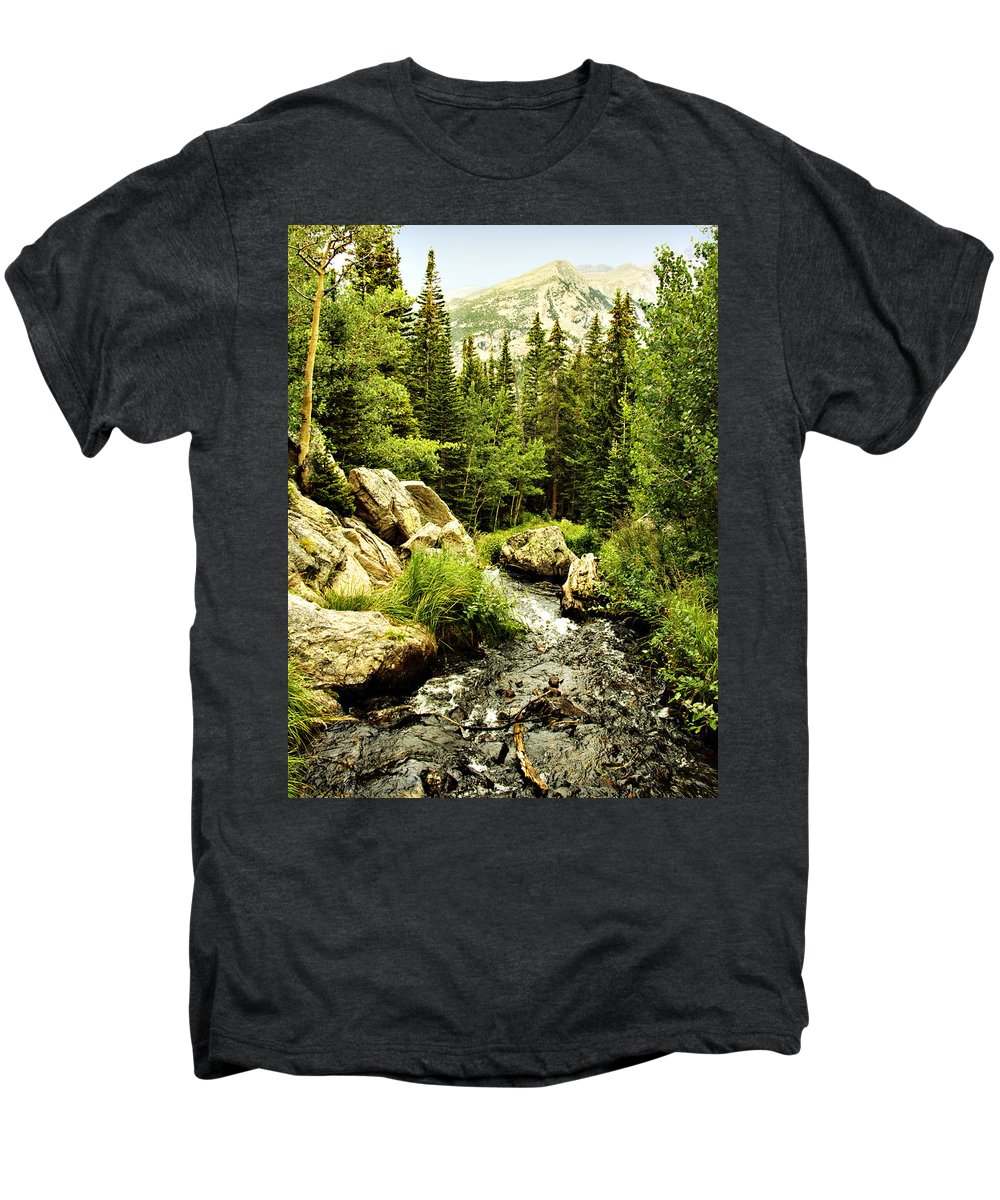 Colorado Men's Premium T-Shirt featuring the photograph Running River by Marilyn Hunt