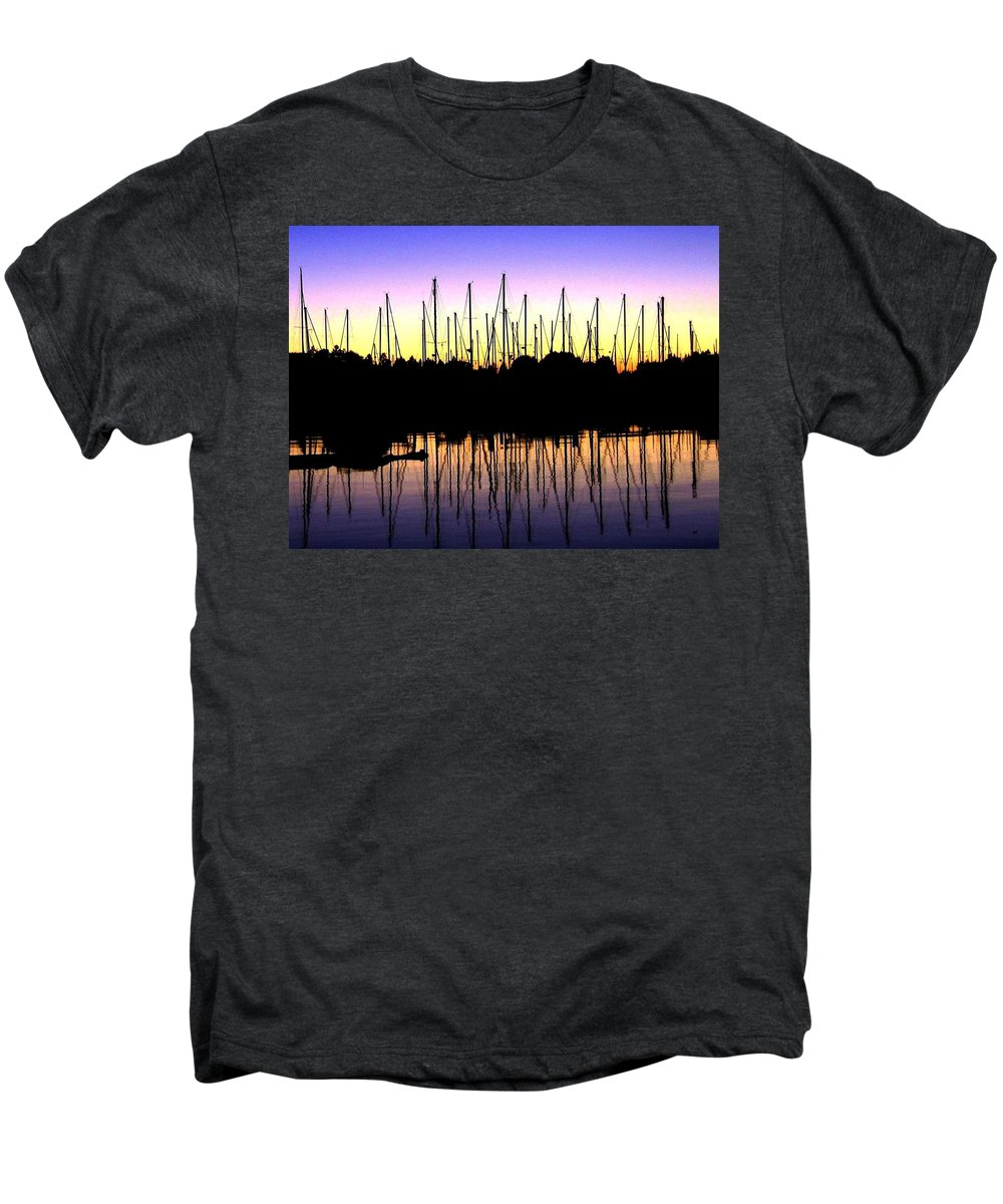 Sailboats Men's Premium T-Shirt featuring the photograph Safe Haven by Will Borden