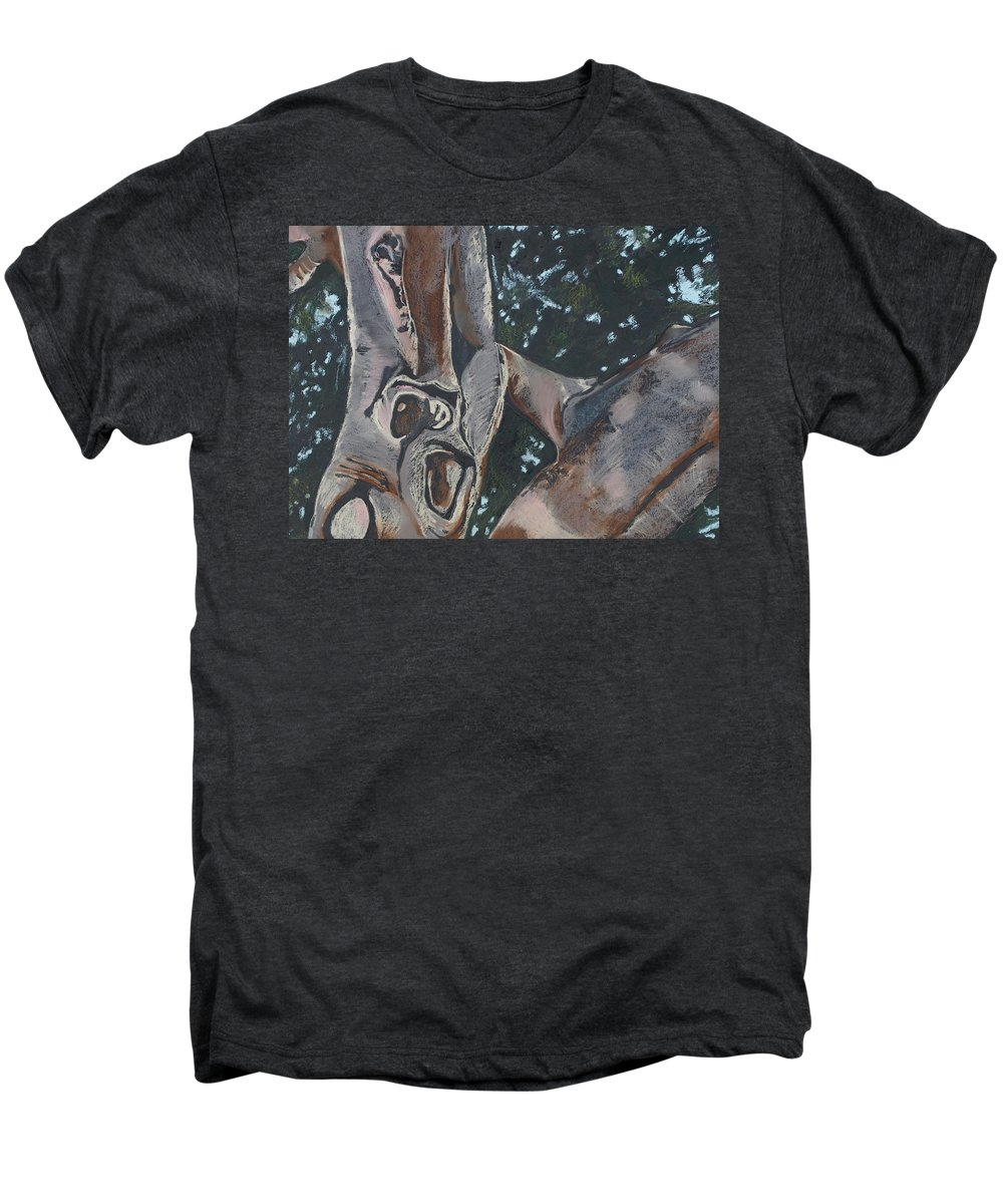 Contemporary Tree Men's Premium T-Shirt featuring the drawing San Diego Zoo by Leah Tomaino