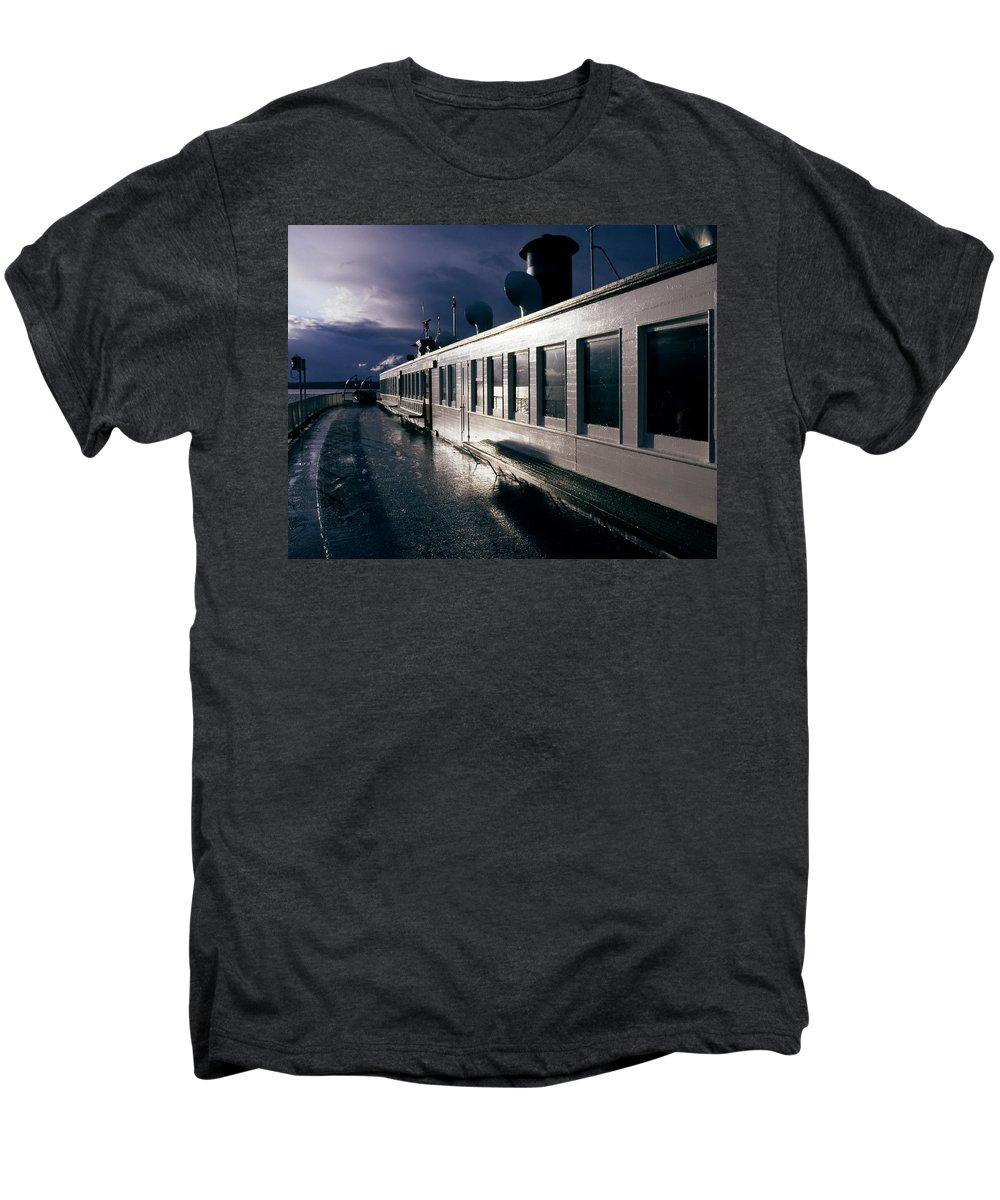 Scenic Men's Premium T-Shirt featuring the photograph San Juan Islands Ferry by Lee Santa