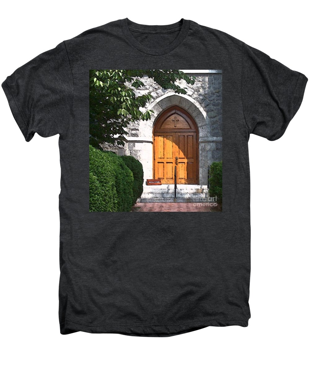 Church Men's Premium T-Shirt featuring the photograph Sanctuary by Debbi Granruth