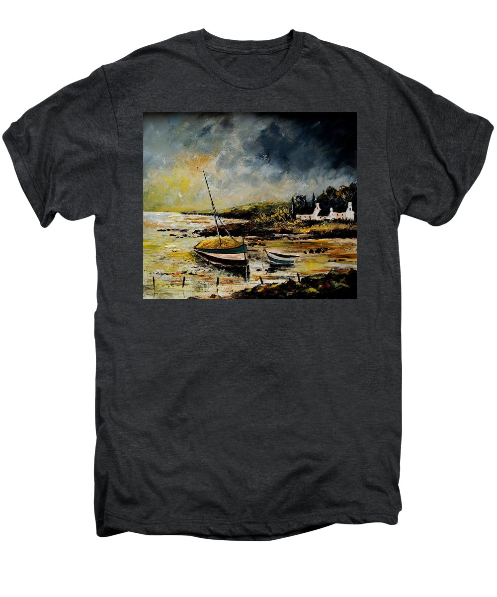 Sea Men's Premium T-Shirt featuring the painting Seascape 452654 by Pol Ledent