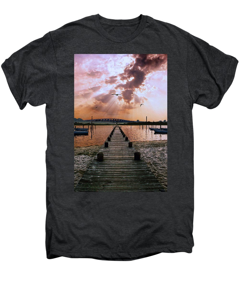 Seascape Men's Premium T-Shirt featuring the photograph Seaside by Steve Karol
