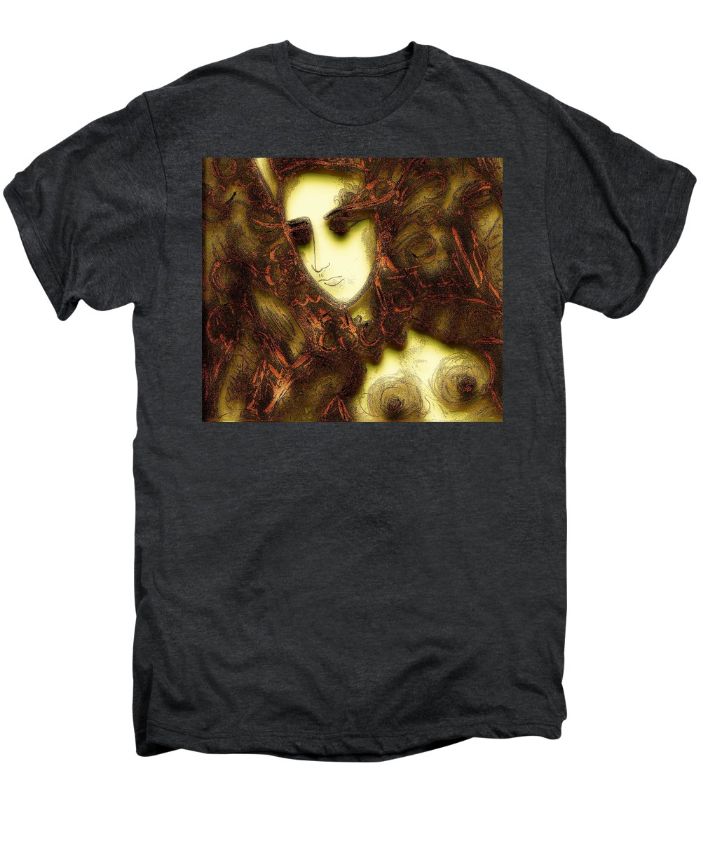 Nymph Men's Premium T-Shirt featuring the painting Secret Nymph by Natalie Holland