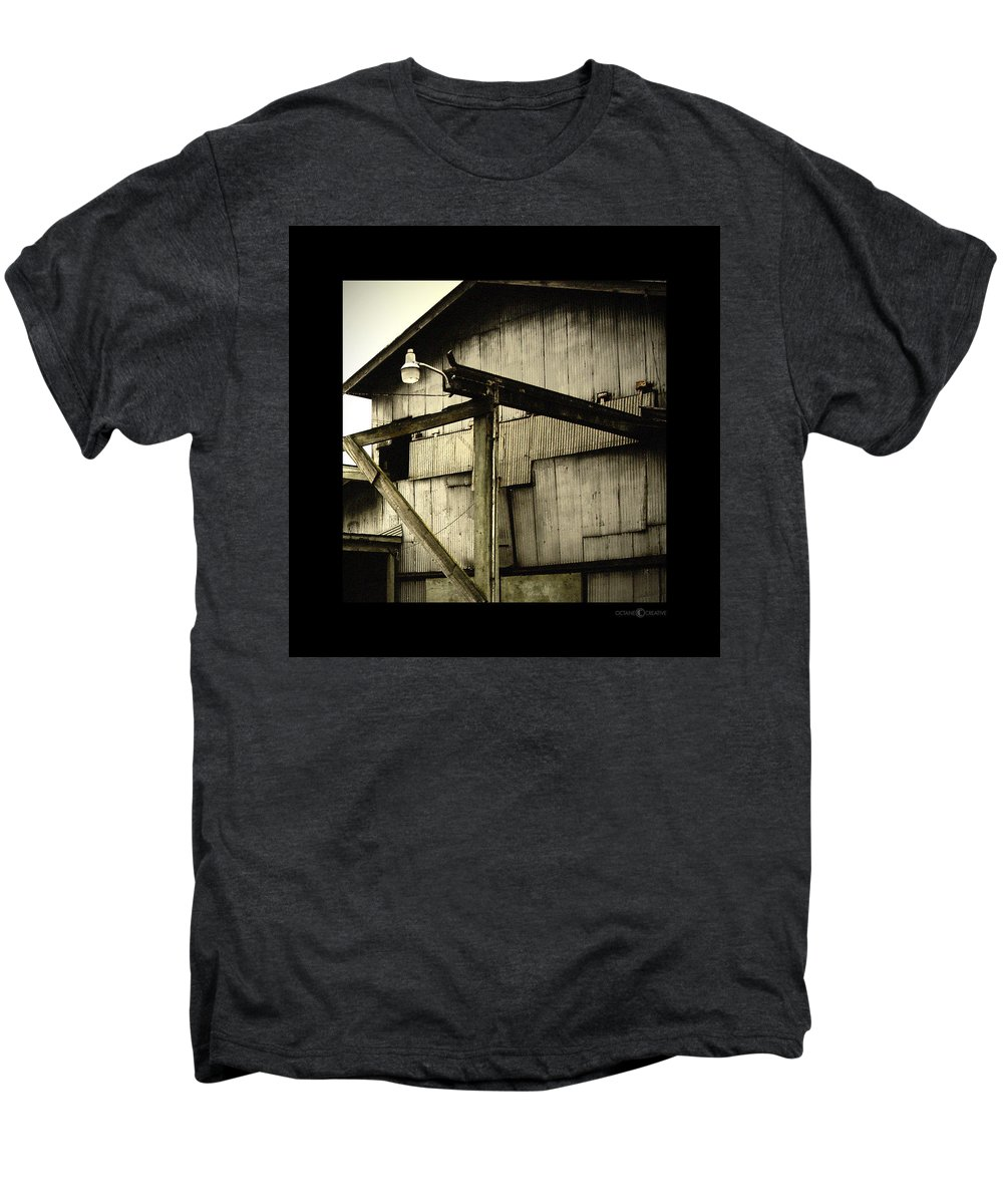 Corrugated Men's Premium T-Shirt featuring the photograph Security Light by Tim Nyberg