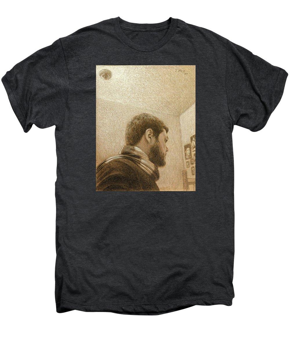 Men's Premium T-Shirt featuring the painting Self by Joe Velez