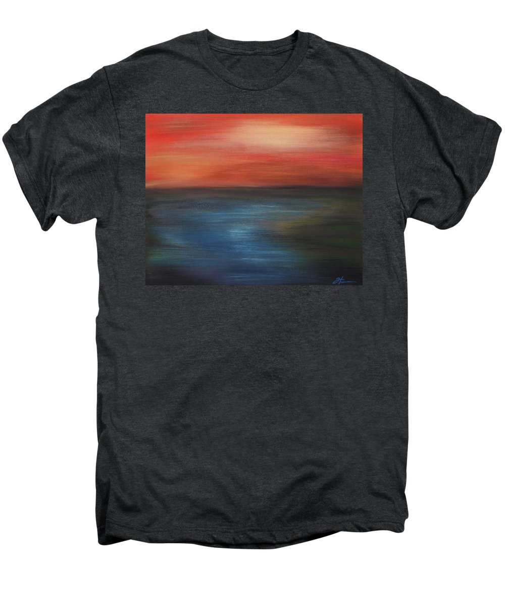 Scenic Men's Premium T-Shirt featuring the painting Serenity by Todd Hoover