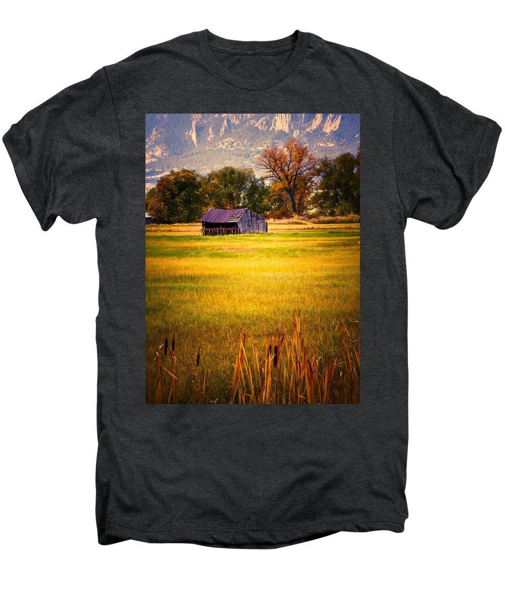 Shed Men's Premium T-Shirt featuring the photograph Shed In Sunlight by Marilyn Hunt