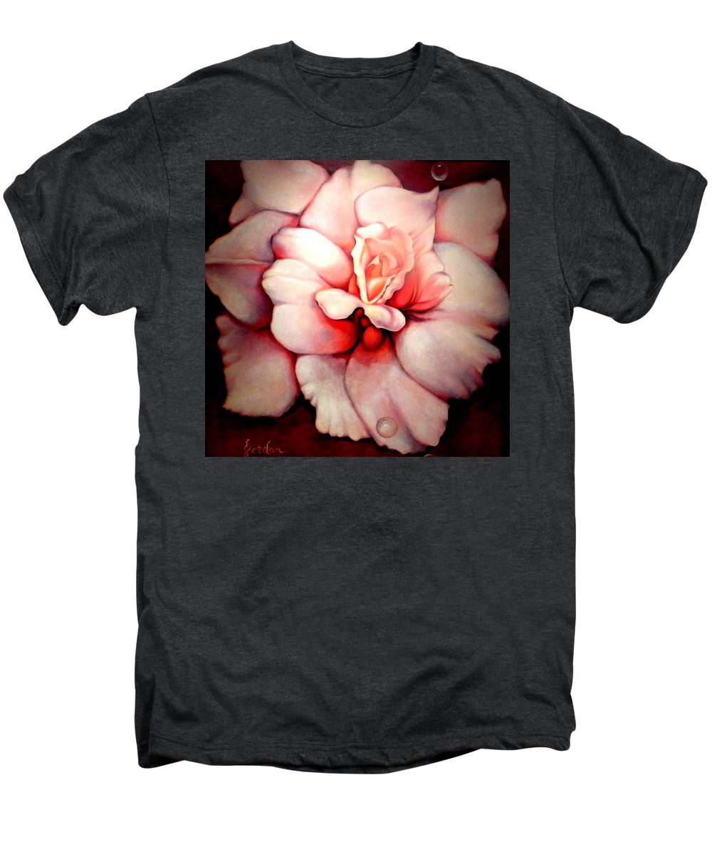 Blooms.large Rose Men's Premium T-Shirt featuring the painting Sheer Bliss by Jordana Sands
