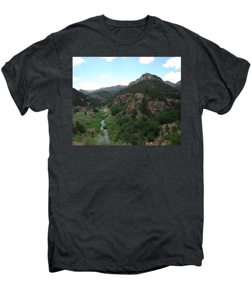 Shelf Road Men's Premium T-Shirt featuring the photograph Shelf Road Vista by Anita Burgermeister