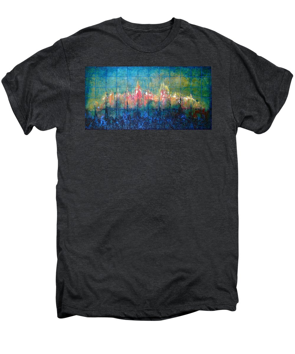 Seascape Men's Premium T-Shirt featuring the painting Shorebound by Shadia Derbyshire