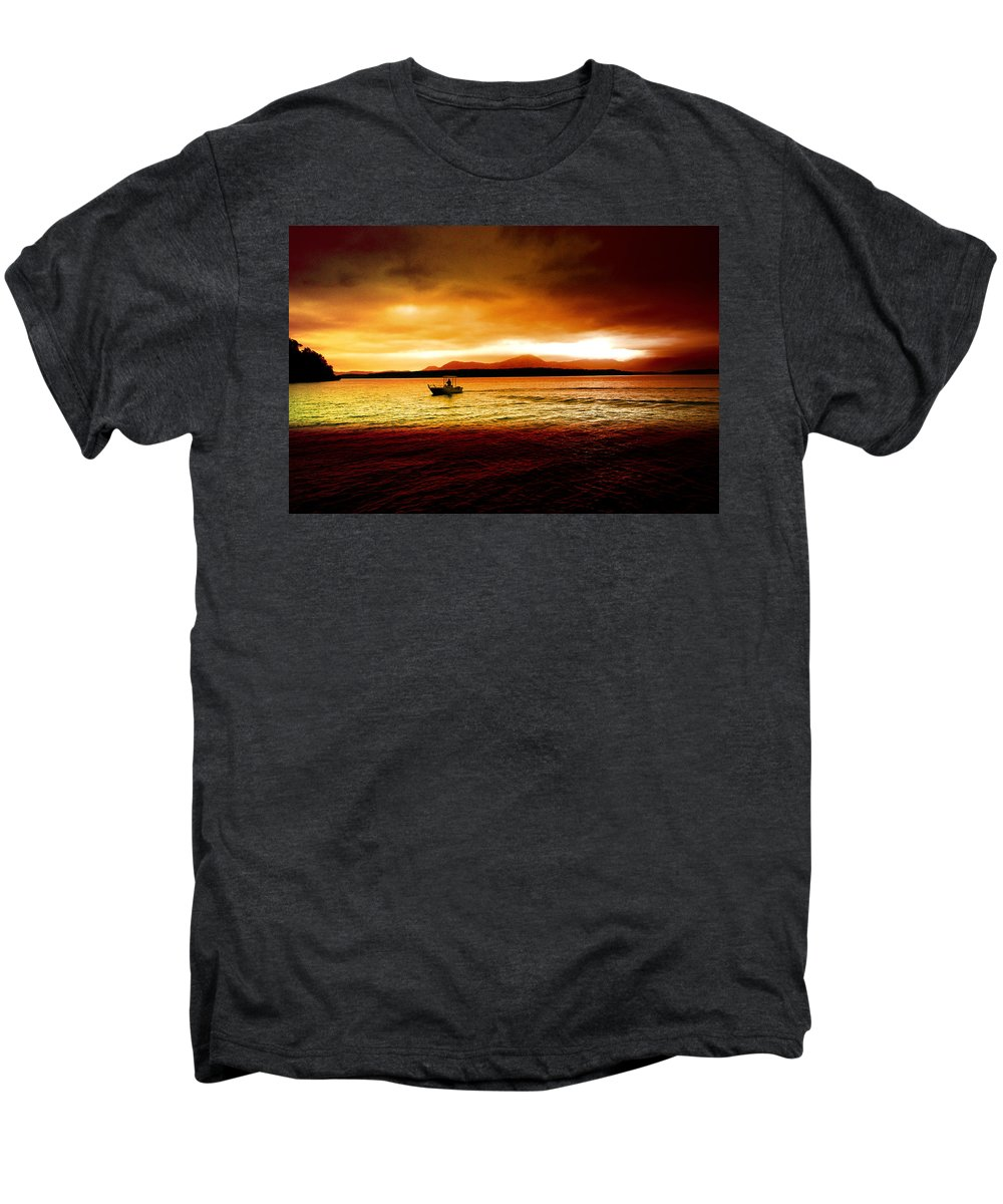 Landscape Men's Premium T-Shirt featuring the photograph Shores Of The Soul by Holly Kempe