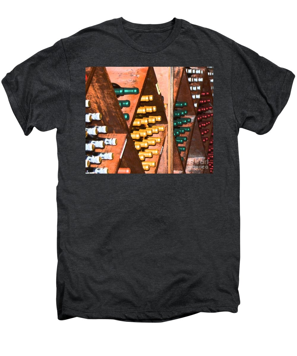 Wine Men's Premium T-Shirt featuring the photograph Sideways by Debbi Granruth