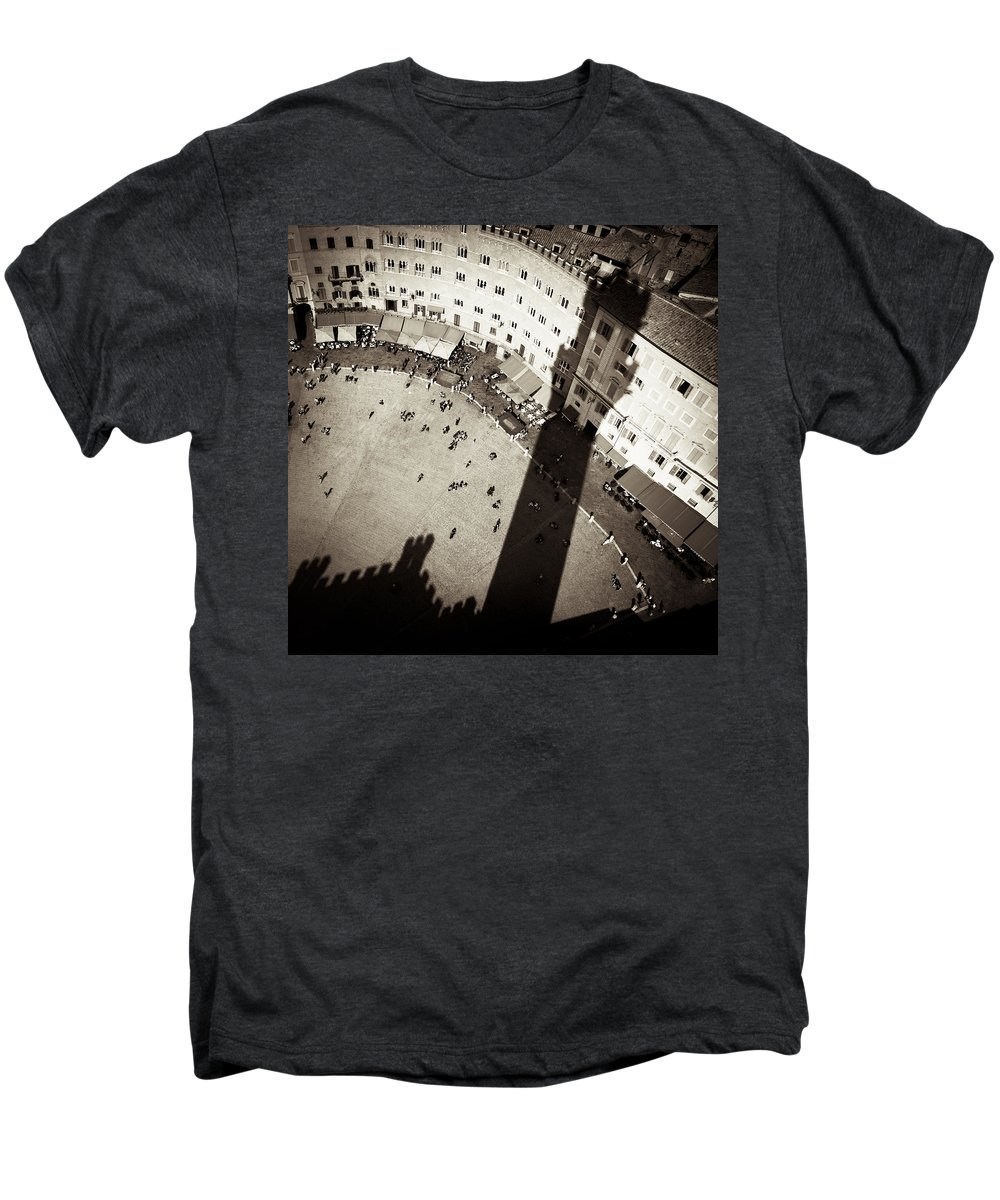 Siena Men's Premium T-Shirt featuring the photograph Siena From Above by Dave Bowman