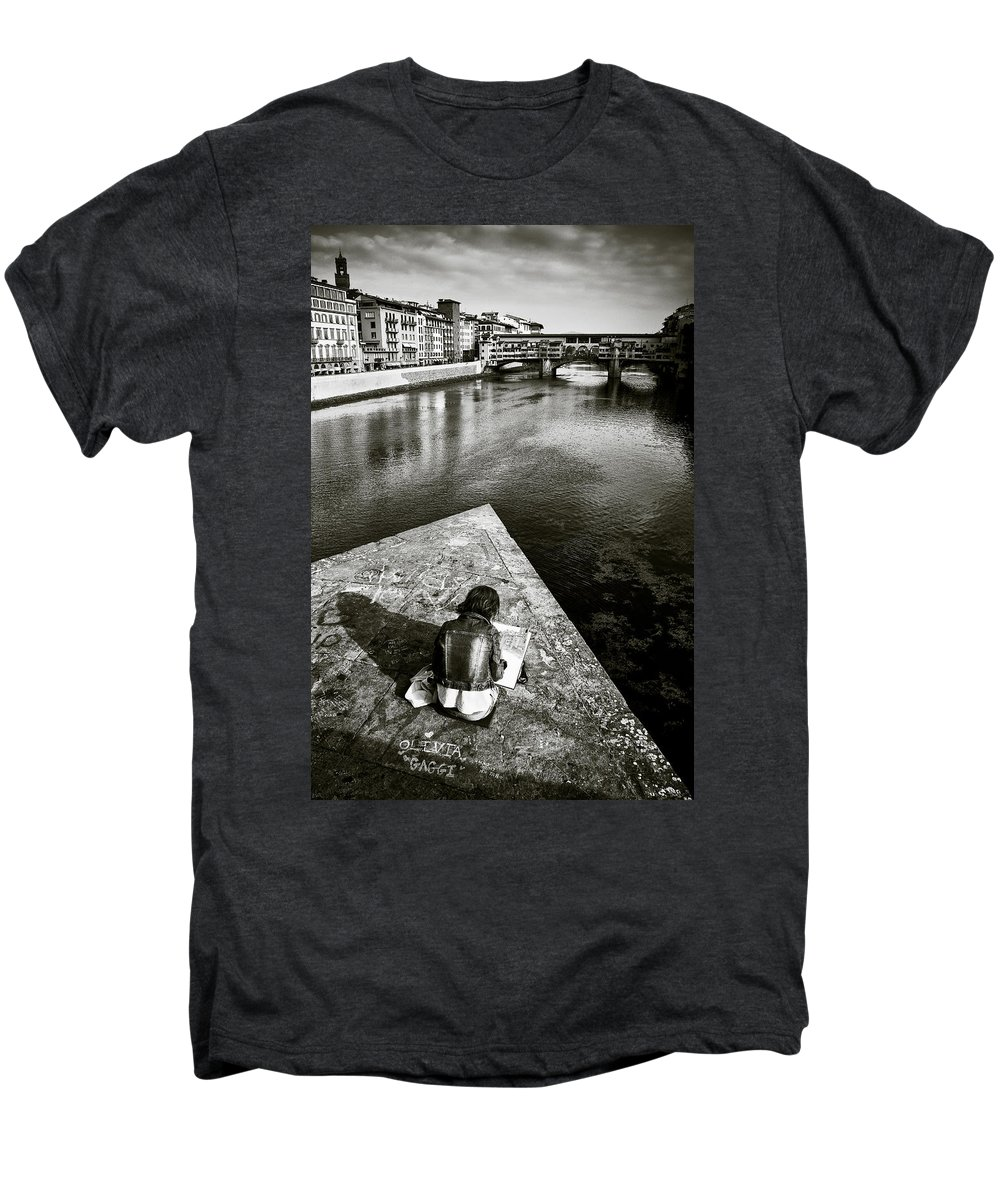 Sketching Men's Premium T-Shirt featuring the photograph Sketching by Dave Bowman