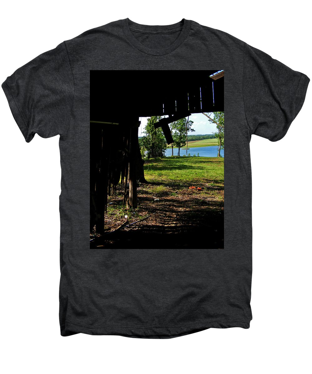Landscape Men's Premium T-Shirt featuring the photograph Skylights by Rachel Christine Nowicki