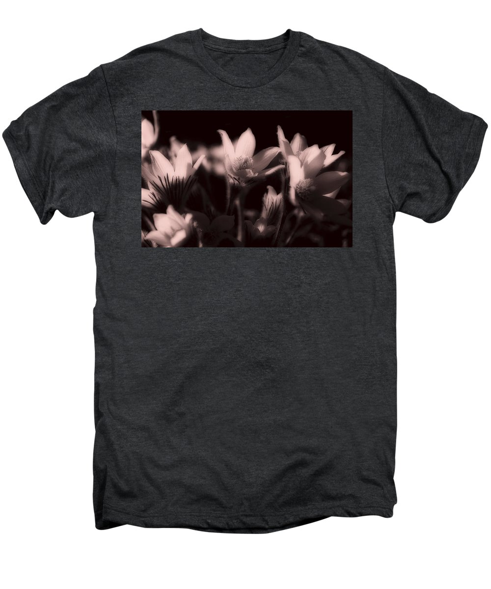 Flowers Men's Premium T-Shirt featuring the photograph Sleepy Flowers 2 by Marilyn Hunt