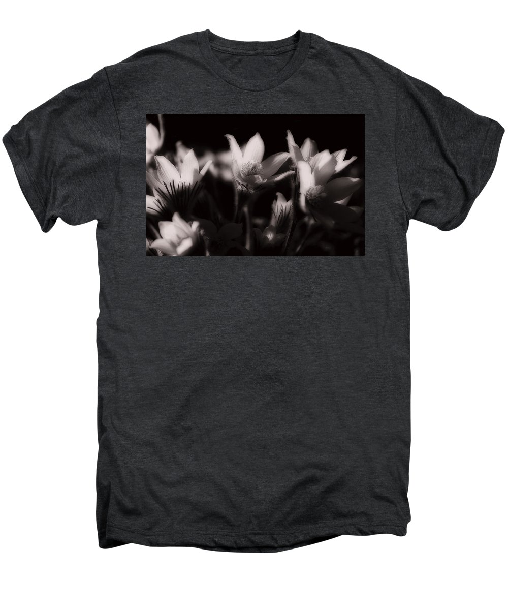 Flowers Men's Premium T-Shirt featuring the photograph Sleepy Flowers by Marilyn Hunt