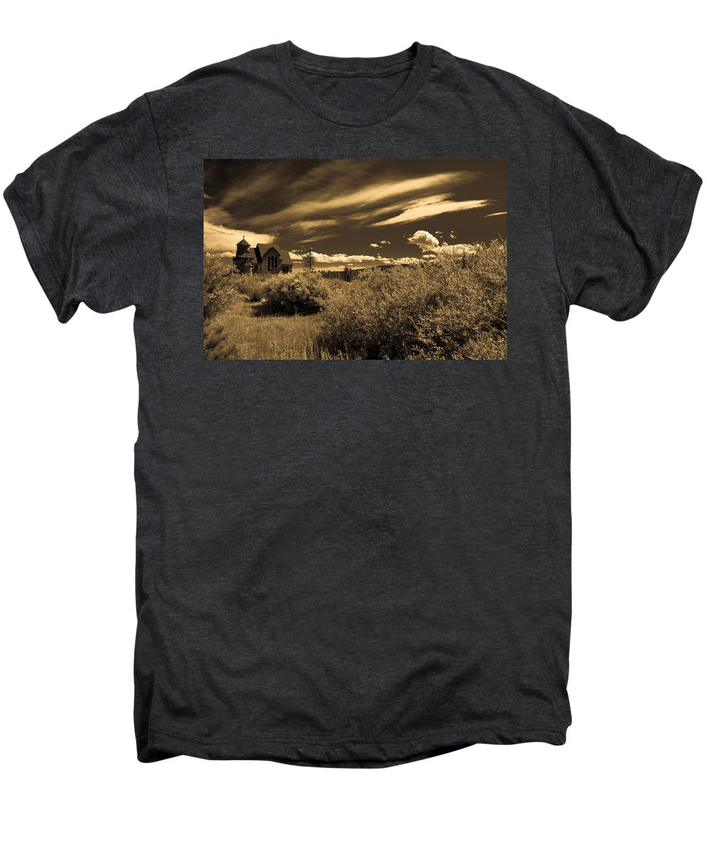 Church Men's Premium T-Shirt featuring the photograph Small Town Church by Marilyn Hunt