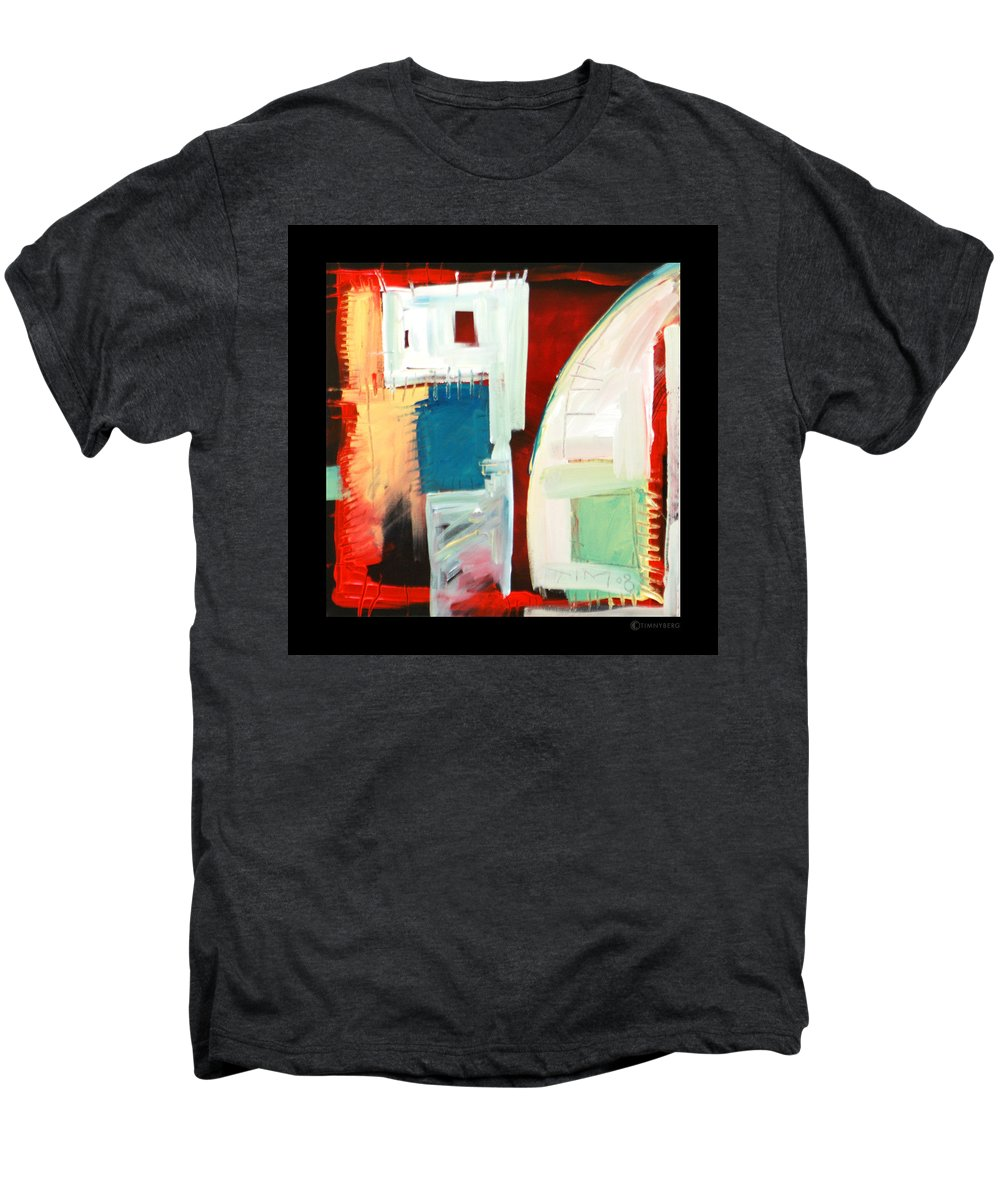 Color Men's Premium T-Shirt featuring the painting Smilin by Tim Nyberg