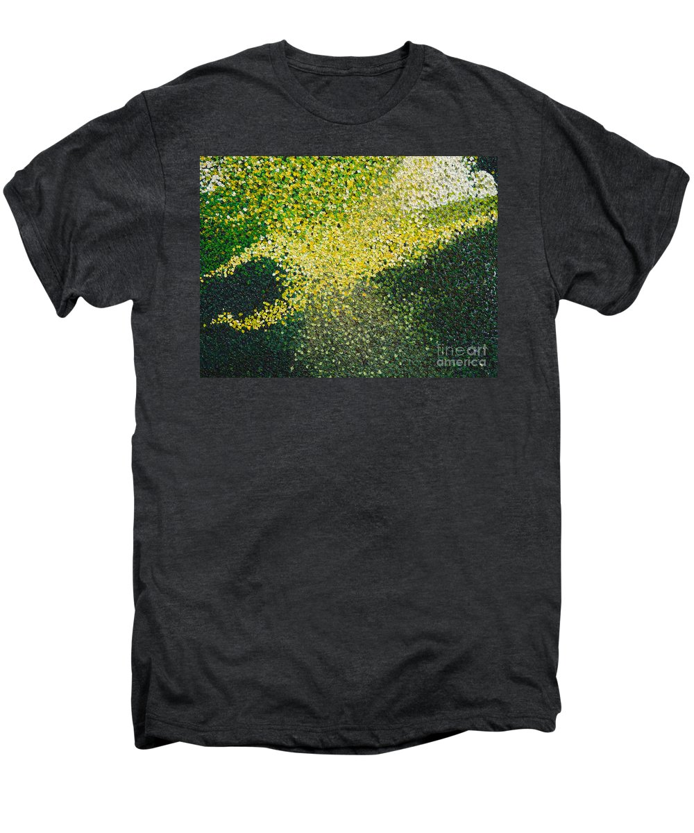 Abstract Men's Premium T-Shirt featuring the painting Soft Green Light by Dean Triolo