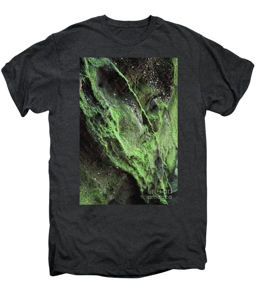 Rocks Men's Premium T-Shirt featuring the photograph Soften The Moment by Amanda Barcon