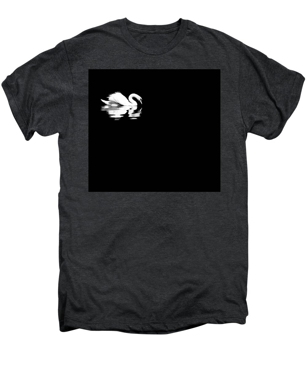 Swan Men's Premium T-Shirt featuring the photograph Song Of Songs I by Deb Cohen