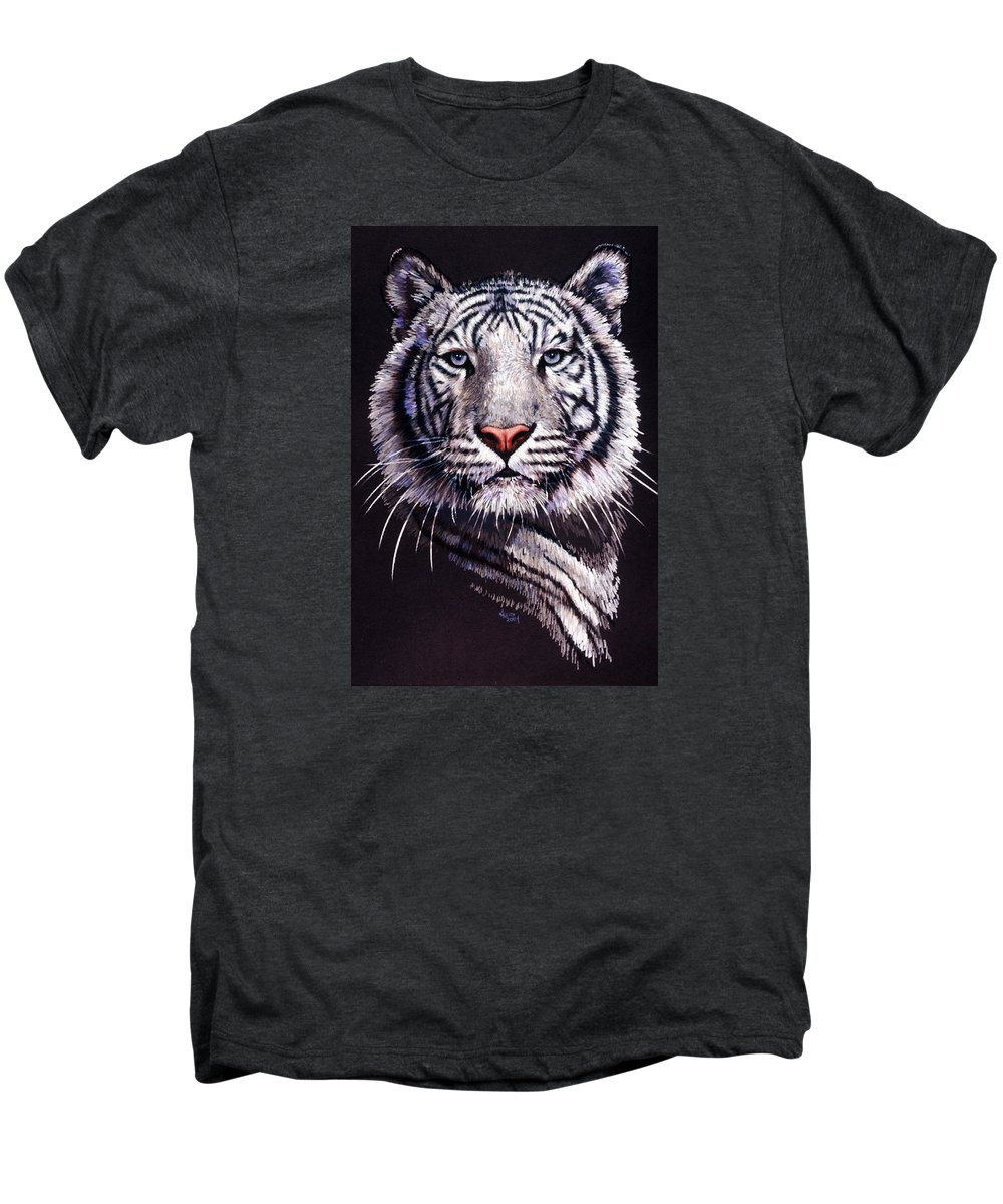 Tiger Men's Premium T-Shirt featuring the drawing Sorcerer by Barbara Keith