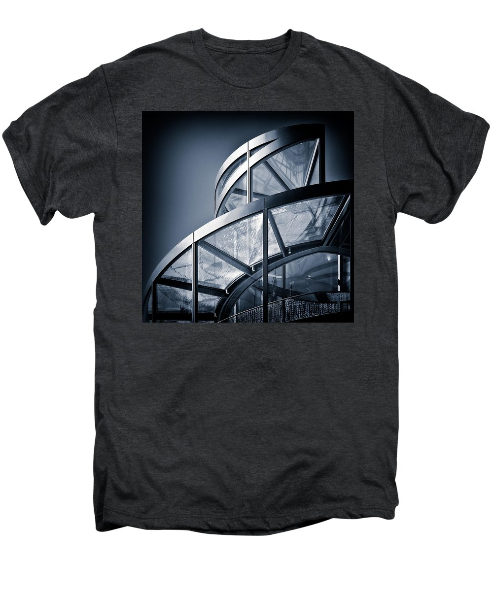 Spiral Men's Premium T-Shirt featuring the photograph Spiral Staircase by Dave Bowman
