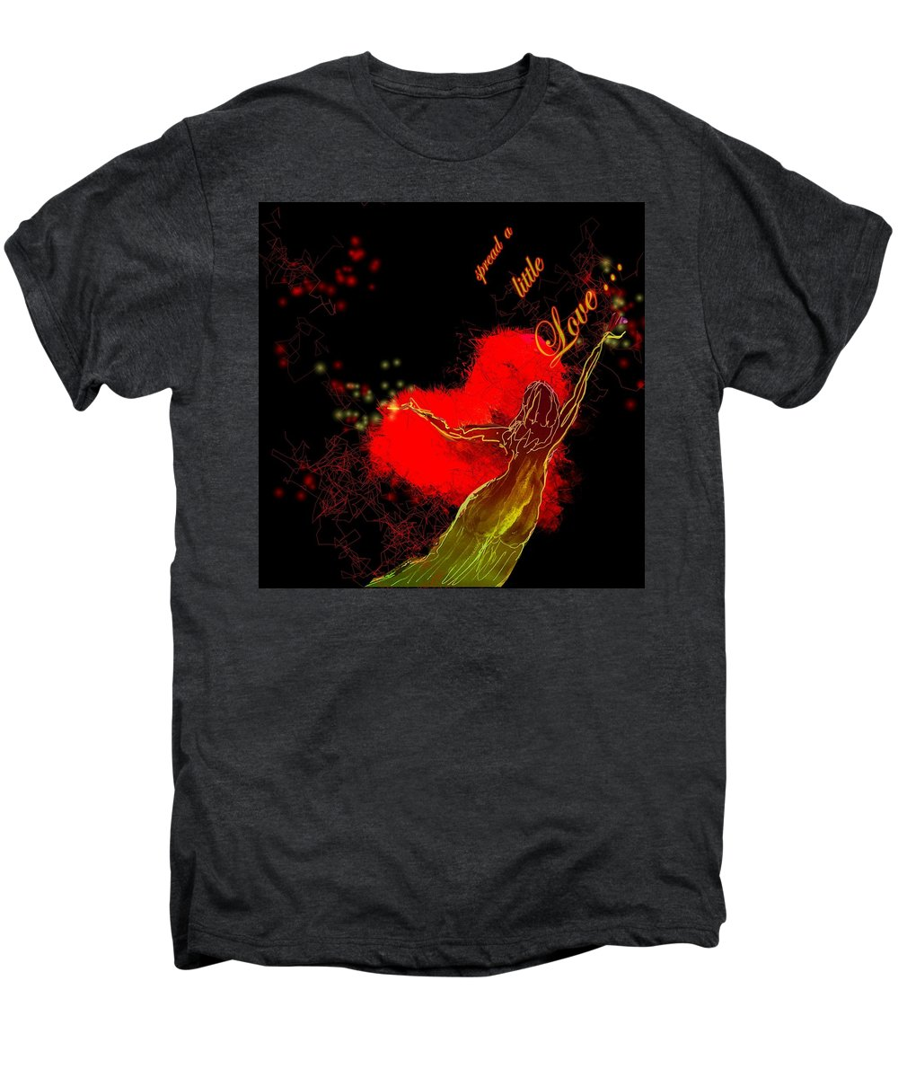 Love Men's Premium T-Shirt featuring the painting Spread A Little Love by Miki De Goodaboom