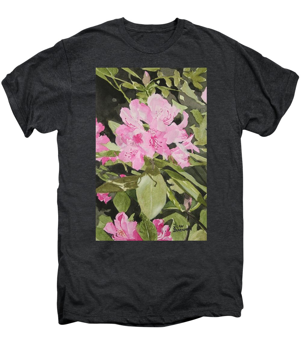 Flowers Men's Premium T-Shirt featuring the painting Spring At The Cabin by Jean Blackmer