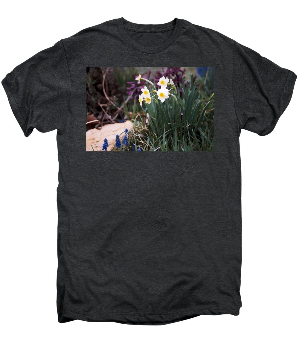 Flowers Men's Premium T-Shirt featuring the photograph Spring Garden by Steve Karol