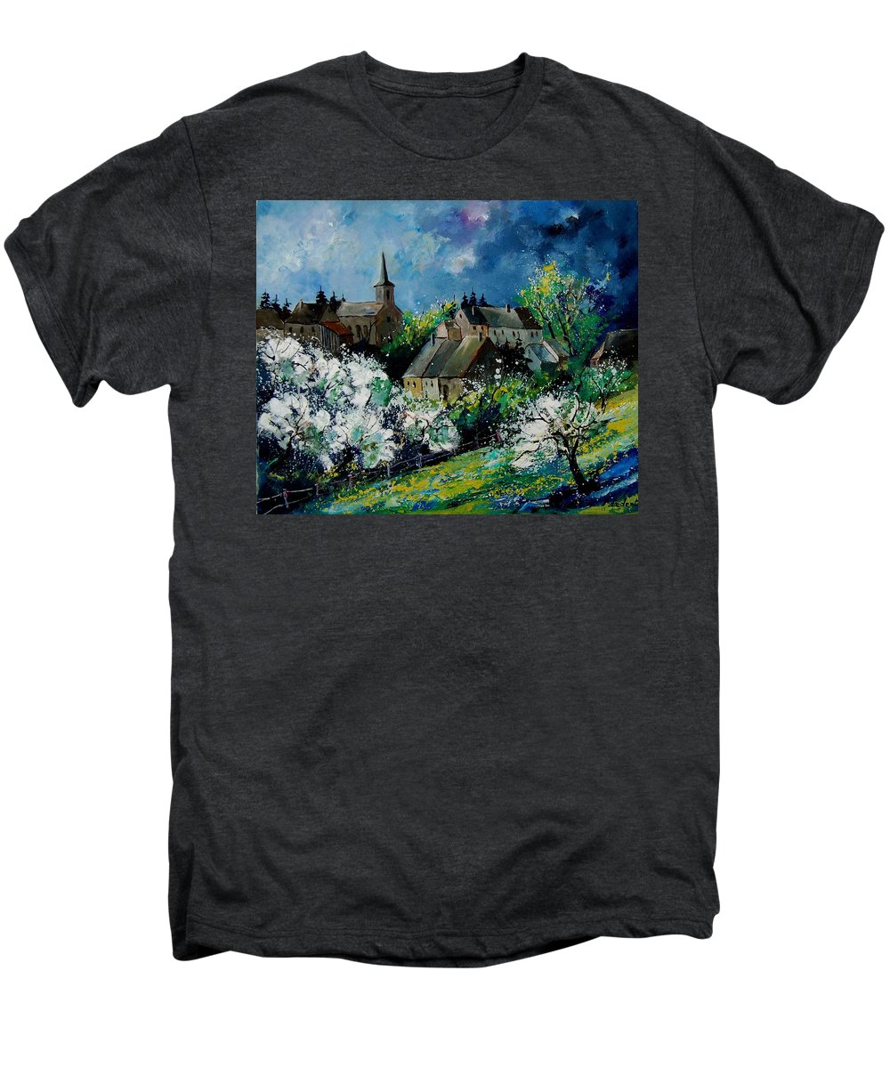 Spring Men's Premium T-Shirt featuring the painting Spring In Fays Famenne by Pol Ledent