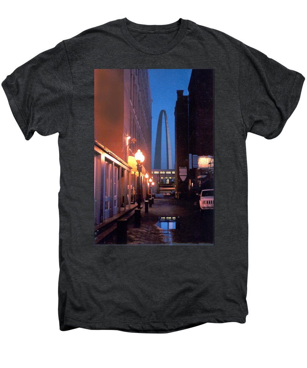 St. Louis Men's Premium T-Shirt featuring the photograph St. Louis Arch by Steve Karol